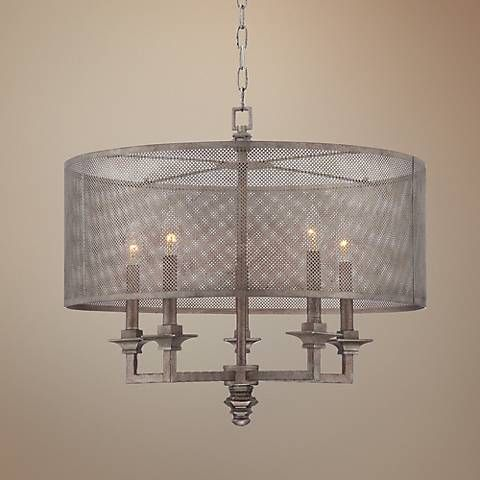 Savoy house structure 24 wide aged steel chandelier 3m969 lamps plus