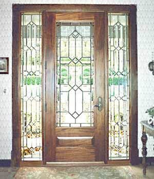 French Antique glass door panels