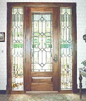 French Antique glass door panels