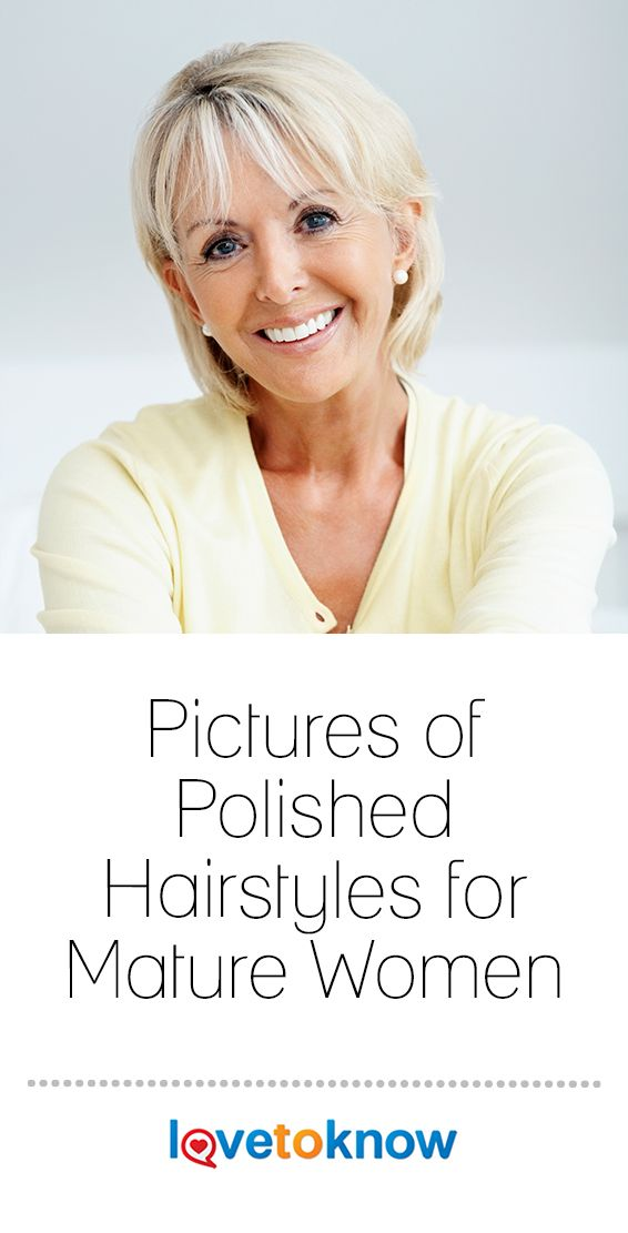 Pictures of Polished Hairstyles for Mature Women
