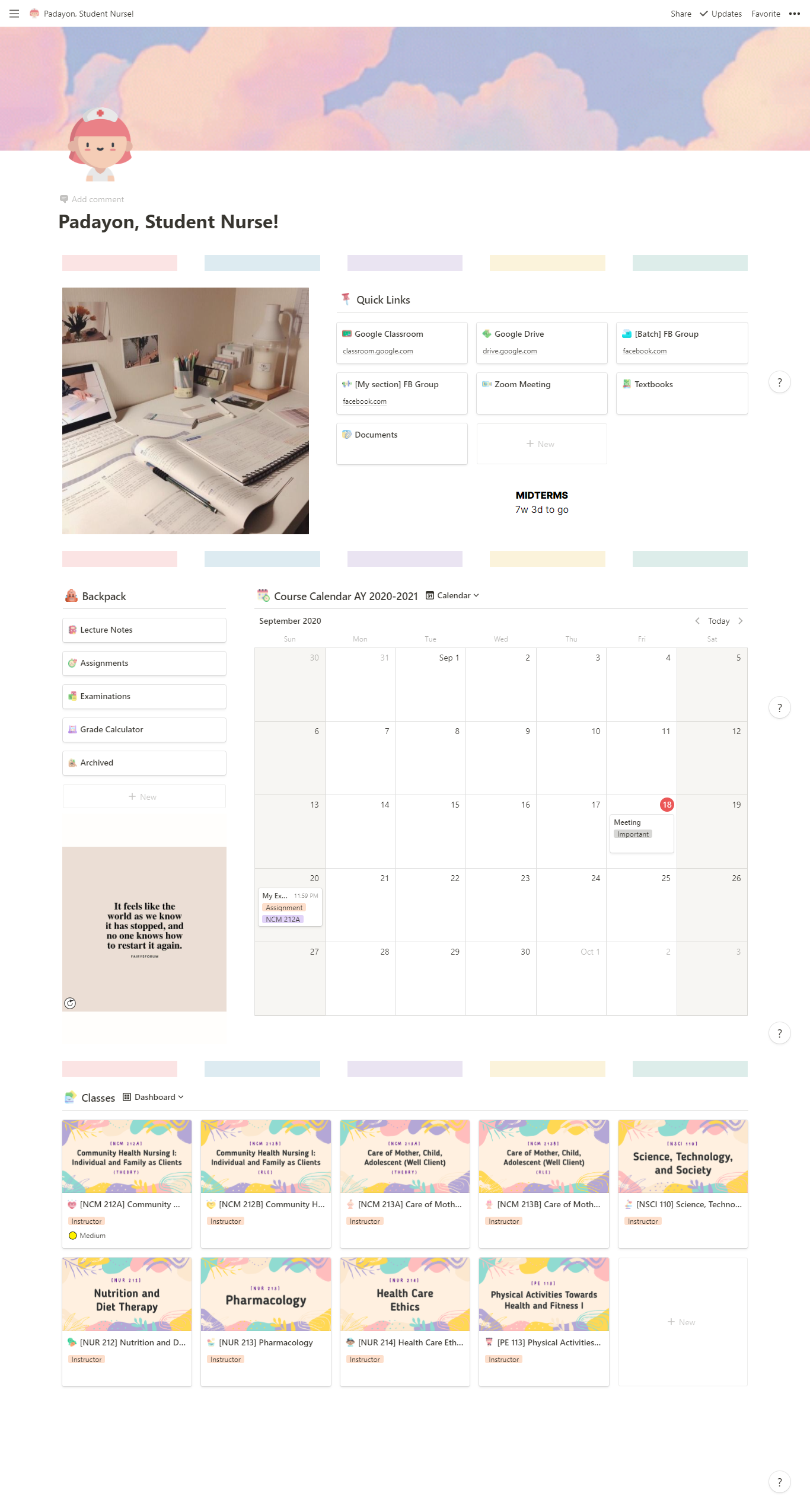 Notion Template In 2021 Notions Templates Aesthetic Template