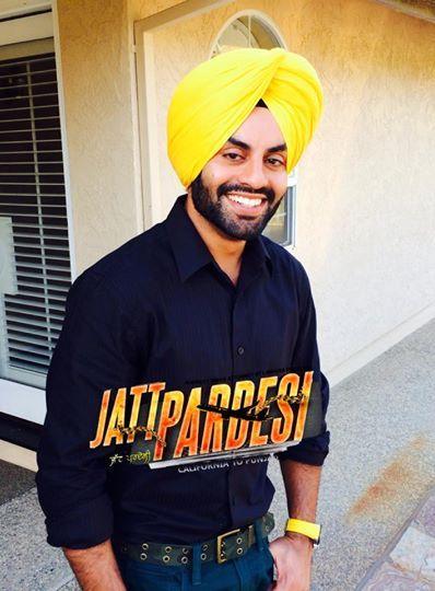 Aman Dhaliwal in a movie scene in up coming Punjabi Movie #JattPardesi releasing soon.