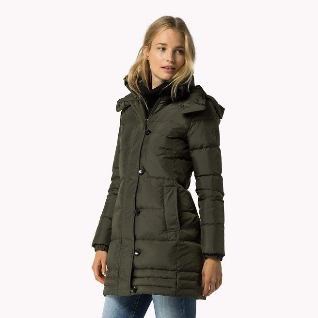 tommy hilfiger rory down coat forest night green. Black Bedroom Furniture Sets. Home Design Ideas