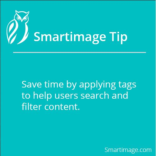 Save time by using tags #Smartimage #SaveTime