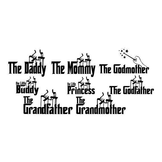 svg - godfather family - dxf - eps - godmother
