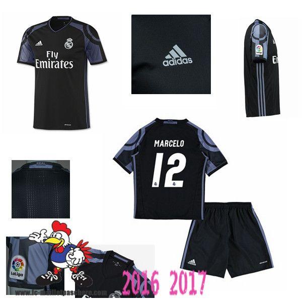 Promo Maillot Du Real Madrid Noir Enfant (MARCELO 12) Third 2016/2017 Thailande