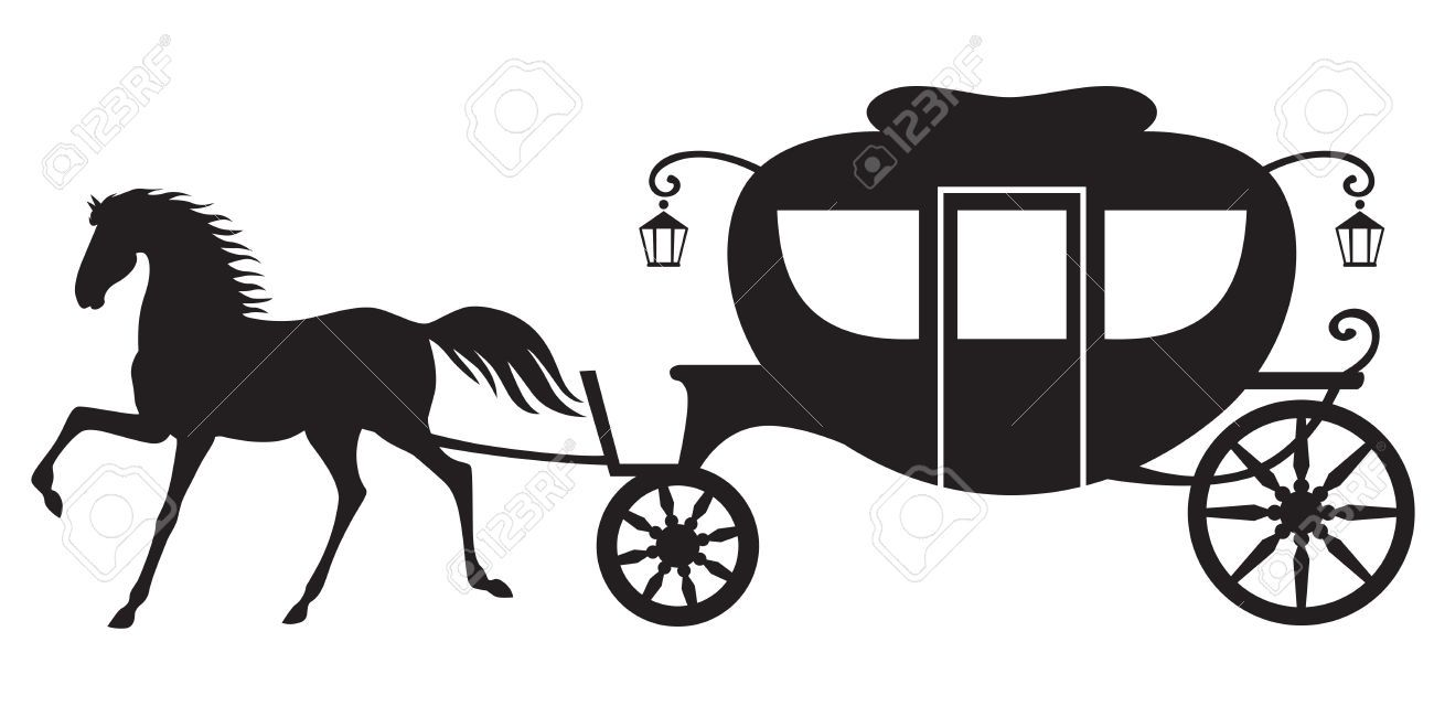 26821059 silhouette image horse drawn carriage stock vector jpg rh pinterest com
