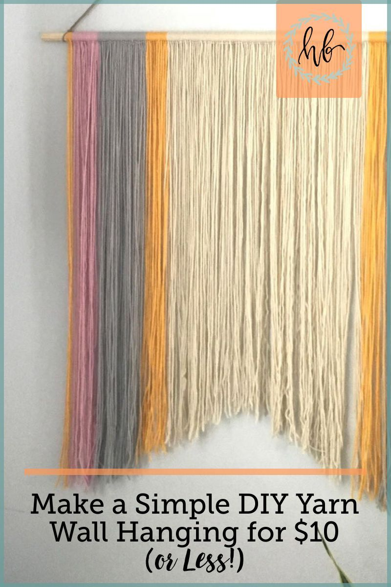 Photo of Simple DIY Yarn Wall Hanging for $10 (or Less!)