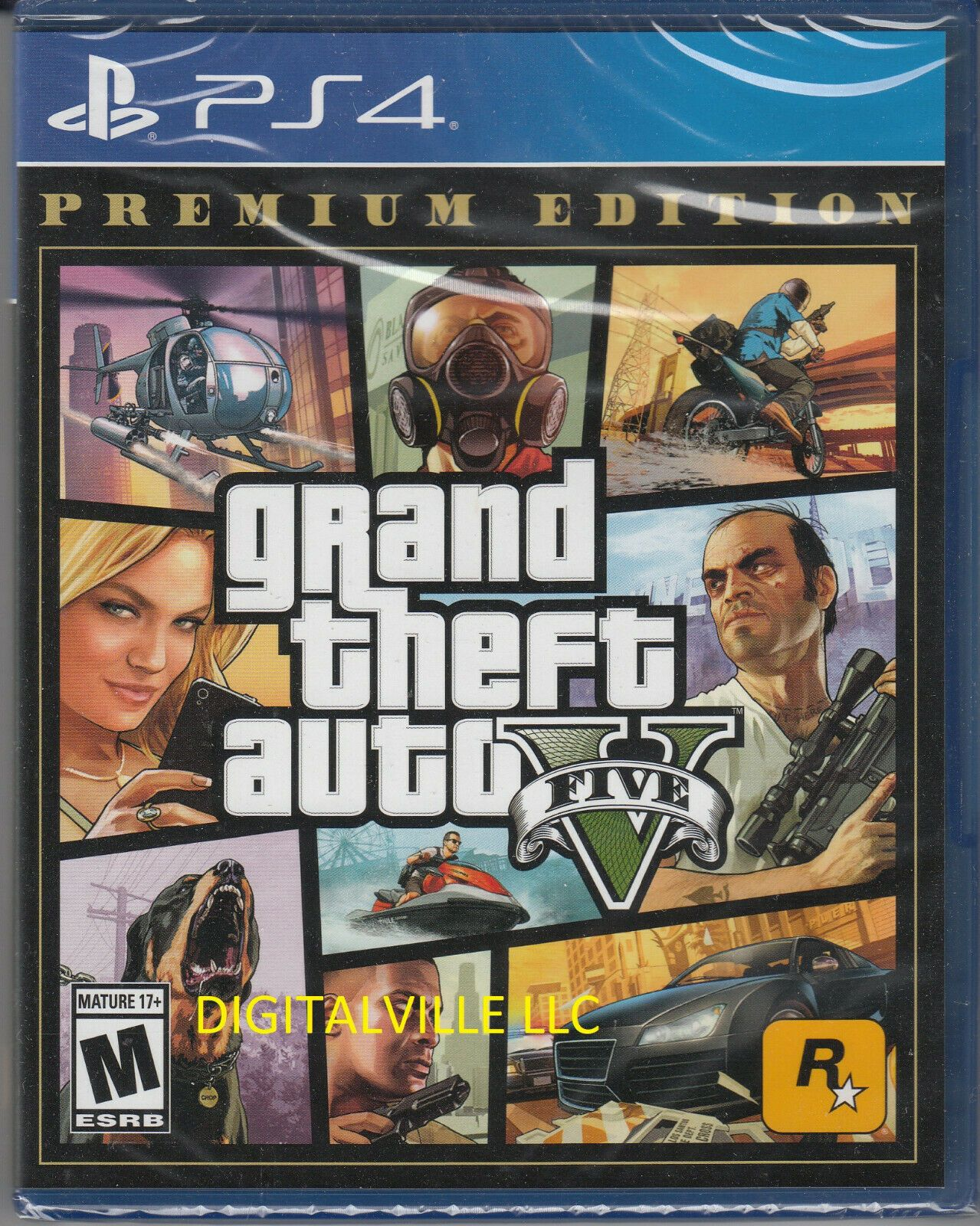 Grand Theft Auto V Premium Edition Ps4 Brand New Factory Sealed Gta 5 710425570322 Ebay In 2020 Grand Theft Auto Video Game Stores Super Mario Bros Games