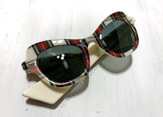 80's French Cat Eye Sunglasses Frame Non Prescription Made