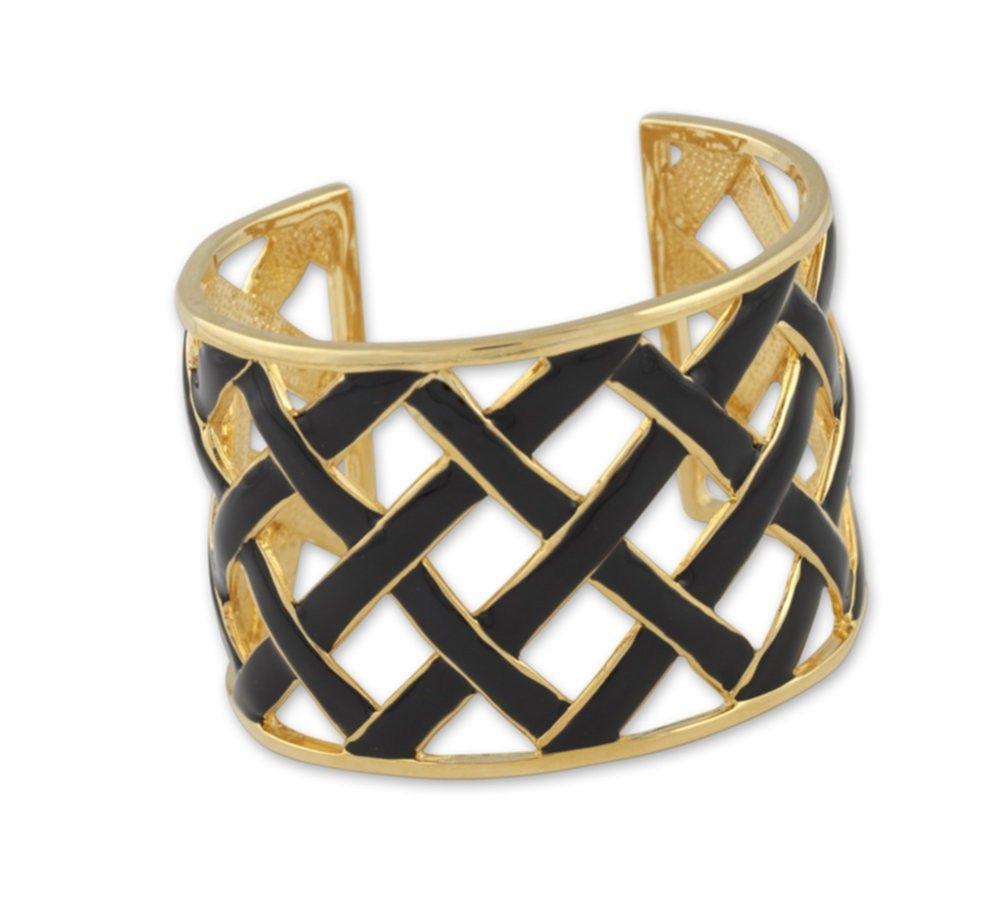 black basketweave cuff