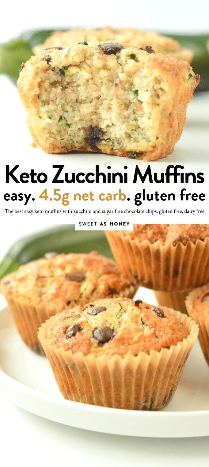 KETO ZUCCHINI MUFFINS almond flour zucchini muffins 45 g net carbs