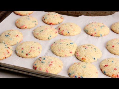 Cake Mix Birthday Cake Cookies Recipe - Laura in the Kitchen ...