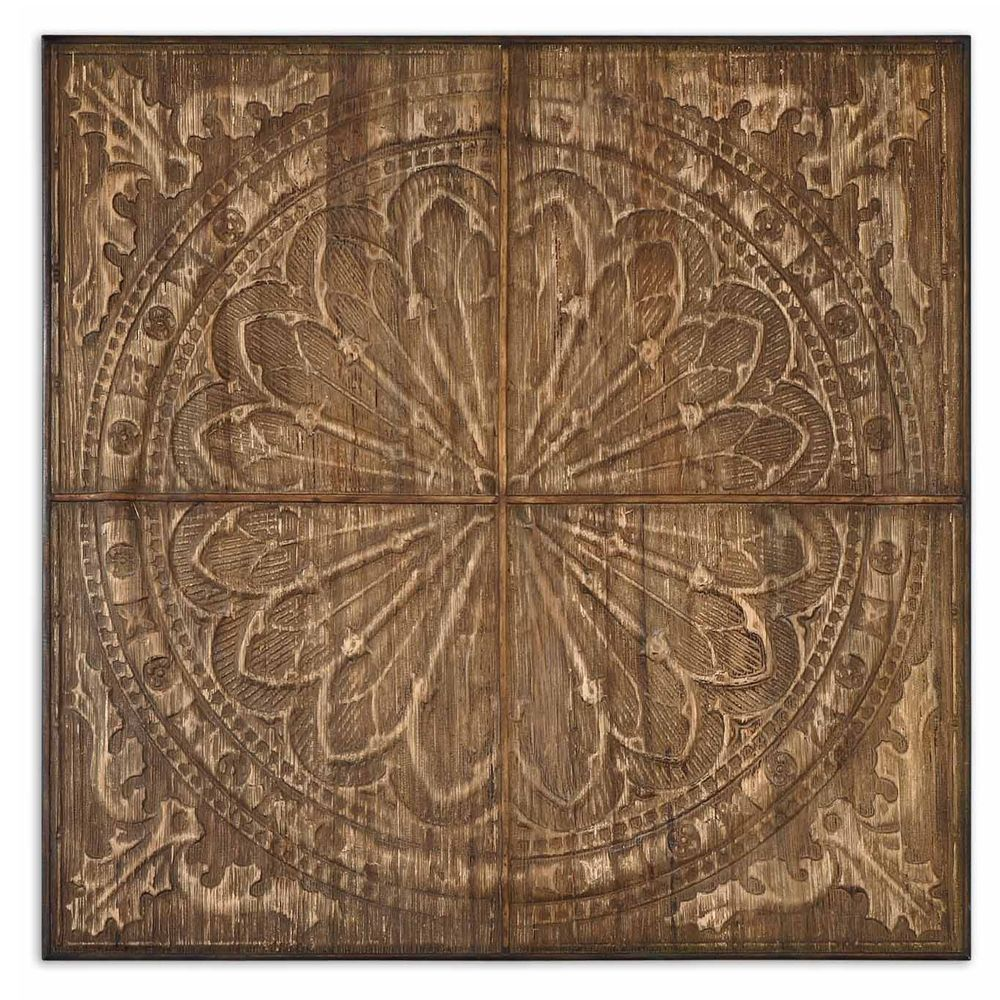 Gorgeous design made with real banana tree bark celtic wood panel