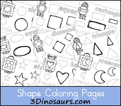 Free Shape Coloring Pages - 3Dinosaurs.com | Learning Themes with ...