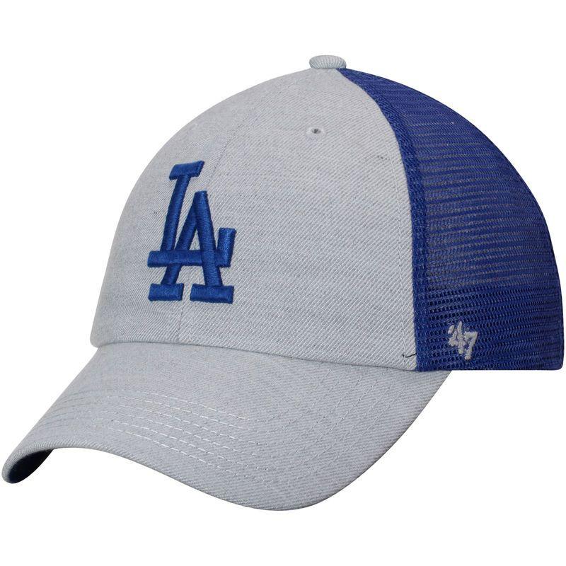 Los Angeles Dodgers  47 Tamarac Clean Up Snapback Adjustable Hat -  Gray Royal 6ce8df65c4e4