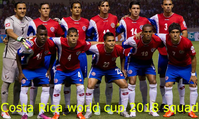 Costa Rica Football Team Squad Fifa World Cup 2018 Russia Fifaworldcup Fifa2018 2018fifaworldcup Russia World Cup World Cup 2018 Teams Fifa World Cup