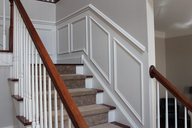 How To Add Molding Squares To A Wall | EHow. Staircase ...