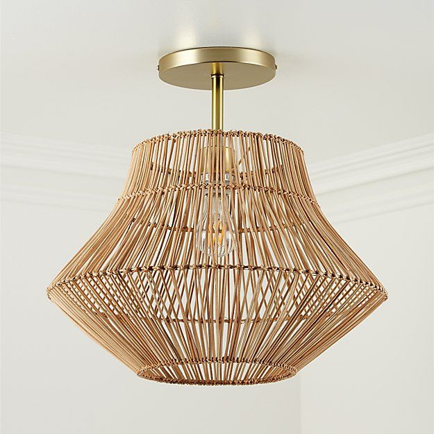Rattan Ceiling Light + Reviews | Crate and Barrel | Kids