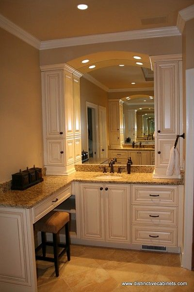 bathroom vanity tower ideas. Bath Vanity with tower storage on either side of the sink  For