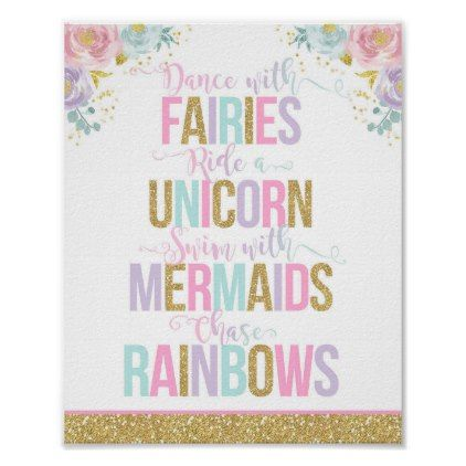 Unicorn Party Decoration Sign