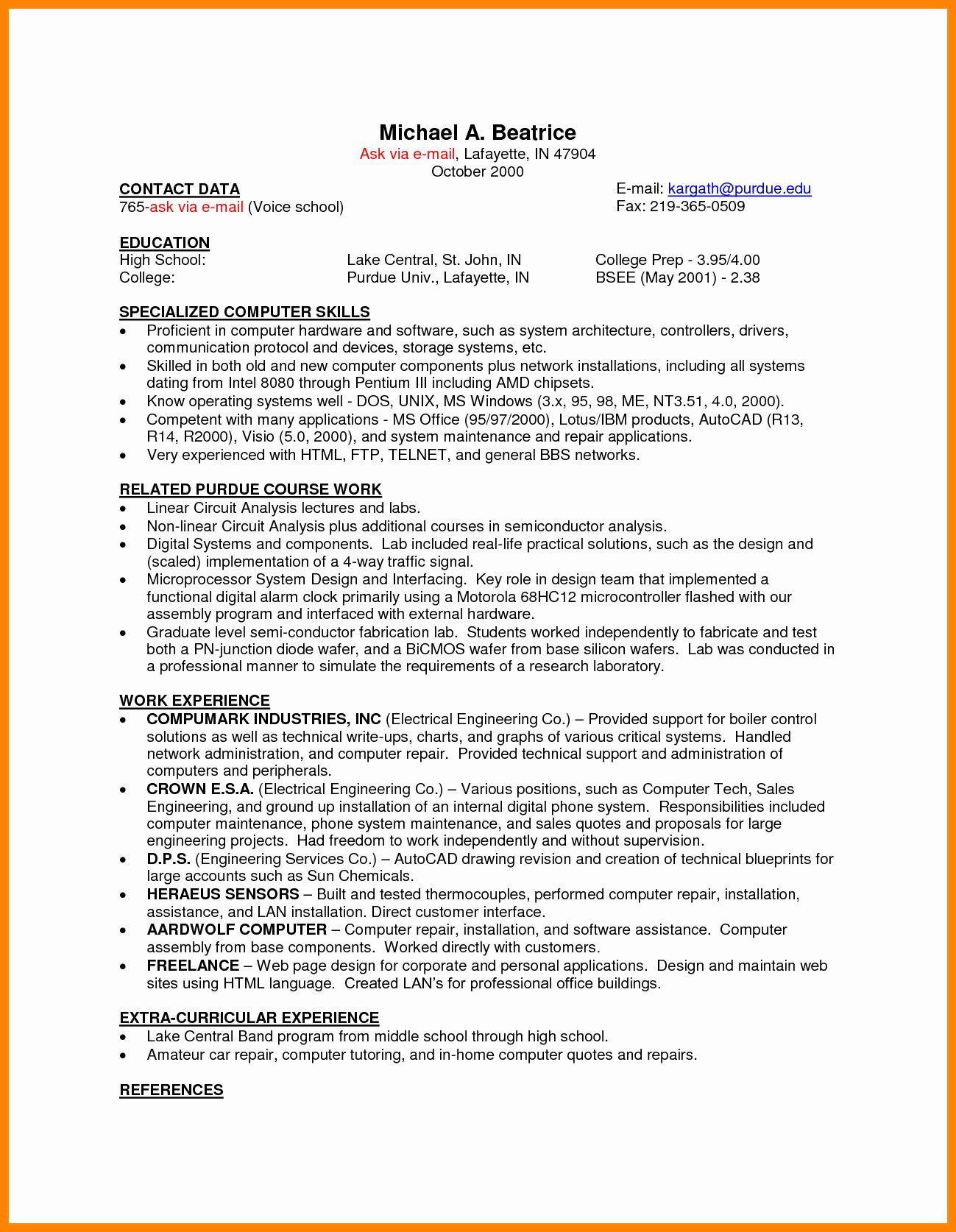Part Time Job Resume Examples New 10 Cv Resume Sample