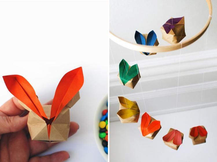 osterdeko basteln mit kindern origami osterhase ostern ostern osterhase und osterdeko basteln. Black Bedroom Furniture Sets. Home Design Ideas