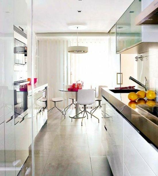 Küchenplanung schmale küche  gemütliche schmale Küche planen einrichten Design Ideen | Küche ...
