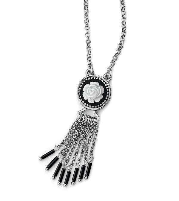 9411f41c7f41e Midnight Rose Necklace | Jewels | Rose necklace, Lia sophia, Silver ...