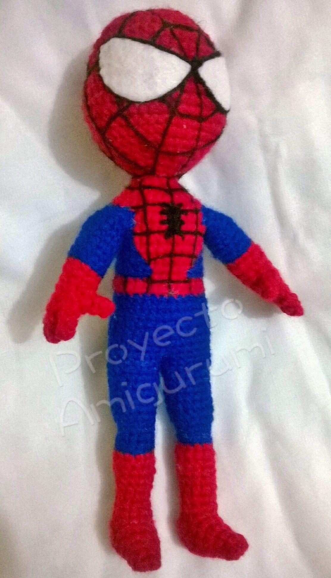Amigurumi Spiderman Patron : Amigurumi Spiderman Patron gratis de Proyecto Amigurumi ...