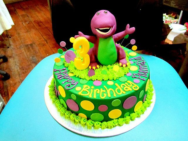 Awe Inspiring Barney Cake Google Search With Images Barney Birthday Cake Personalised Birthday Cards Cominlily Jamesorg