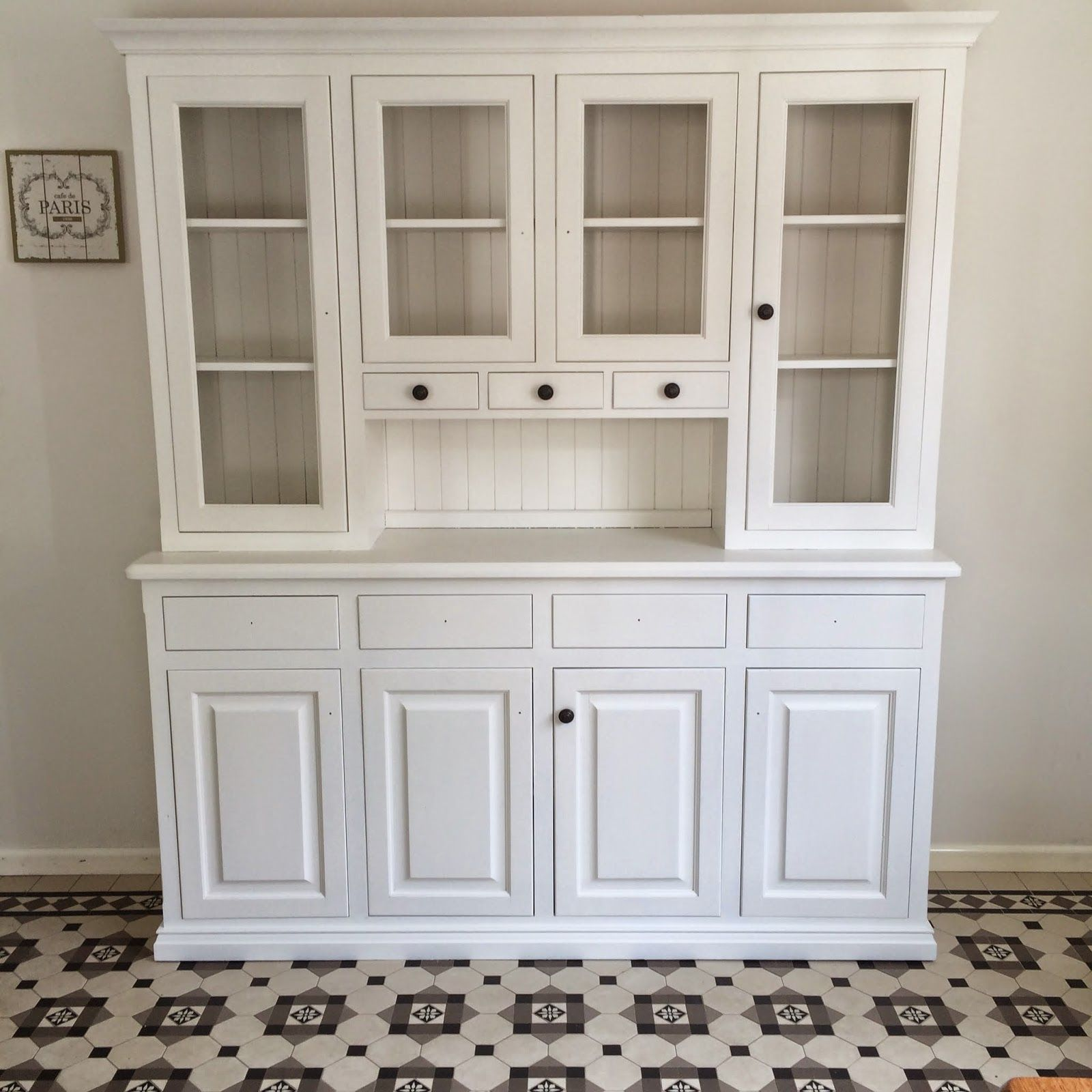 White Painted Kitchen Hutch  A Little Inner City Home In Amazing White Kitchen Hutch Decorating Design