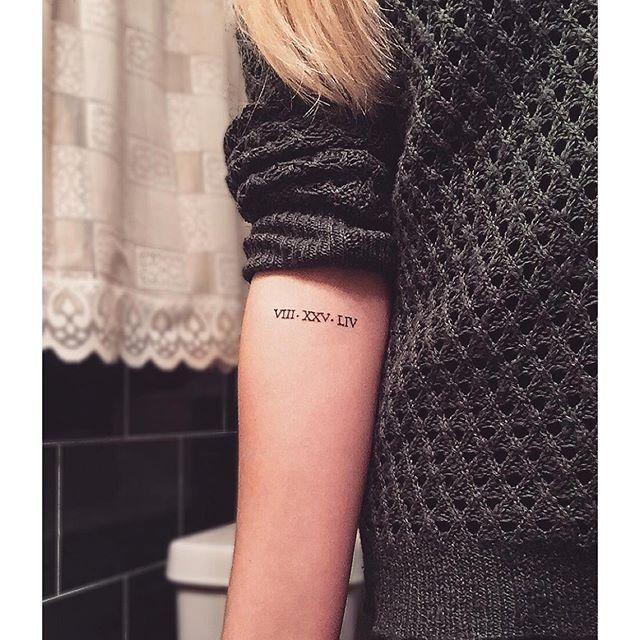 Womens Roman Numbers Tattoo Design