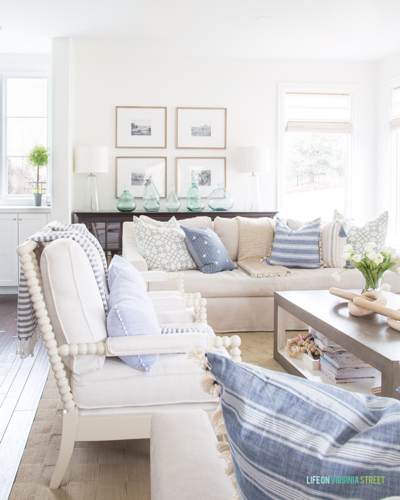 Amazing Blue And White Striped Spring Home Tour Best Of Life On Andrewgaddart Wooden Chair Designs For Living Room Andrewgaddartcom