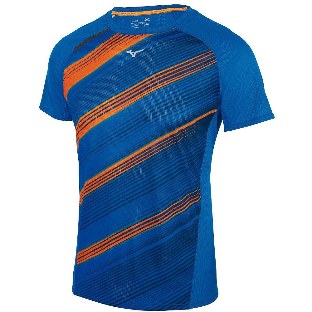 Mizuno Men S Aero 2 0 Running Tee Mens Size Small In Color Waterfall Clownfish 5g2f Running Tees Running Shorts Outfit Running Clothes
