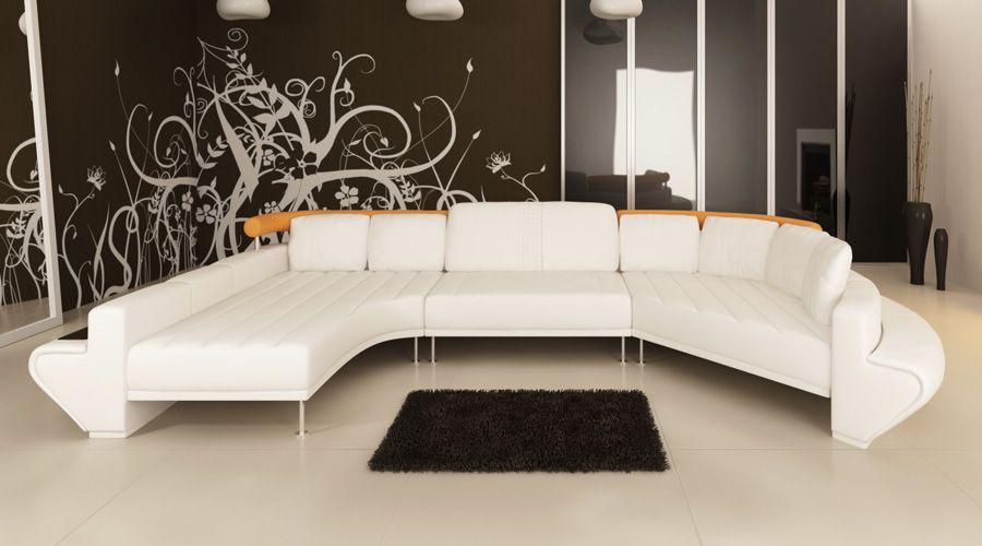 Modernes Ledersofa Exklusives Design Komfort Zum Wohlfuhlen Dieses Ledersofa Wird In Jedem Raum Zu Einem Eyecatcher Und Erzeu In 2020 Sofa Home Design