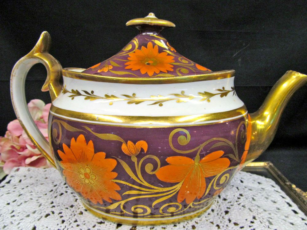 RARE ANTIQUE 1805 SPODE IMARI PAINTED TEAPOT FLORAL AMAZING DESIGN CHINTZ #Rococo #SPODE