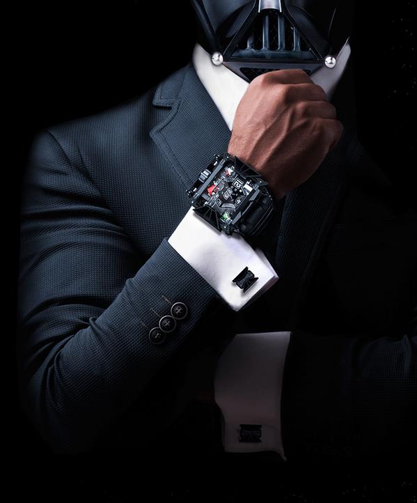 ¿Eres un fanático de Star Wars con $28,500 extras para gastar? Entonces este reloj es el complemento ideal. está hecho de 350 partes individuales y que emula a la nave insignia de Darth Vader. En total sólo 500 relojes serán fabricados y si quieres ser uno de las que lo tendrá, deberás separarlo con $2,500 en la página a continuación: www.devonworks.com/starwars/preorder Y los gemelos de la nave TIE Fighter también están incluidos. 12003153_1095727627117930_3937187944274156294_n.png…