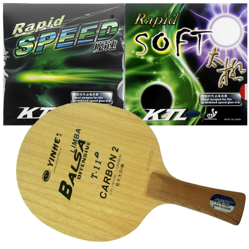 51.06$  Buy here - http://ai8vj.worlditems.win/all/product.php?id=1195621814 - Galaxy YINHE / Milky Way T-11+ Table Tennis Blade With KTL Rapid SPEED / Rapid SOFT Rubbers With Sponge for a racket