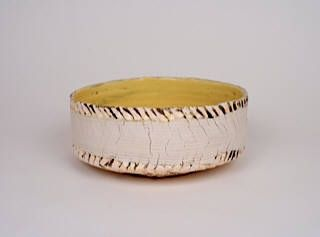 Artist: Ani Kasten, Title: Yellow Bowl w/ Porcelain Obi
