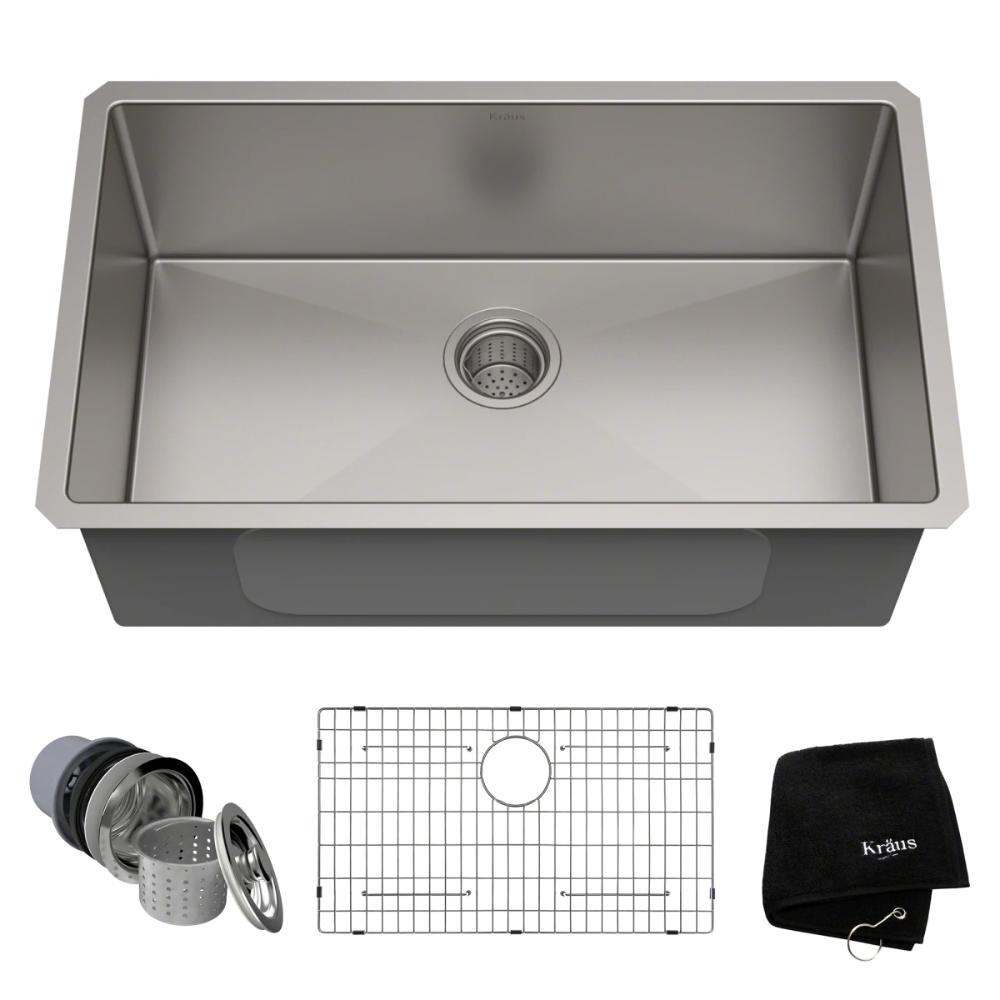 Kraus Khu100 30 Build Com In 2020 Sink Undermount Kitchen Sinks Stainless Steel Kitchen Sink