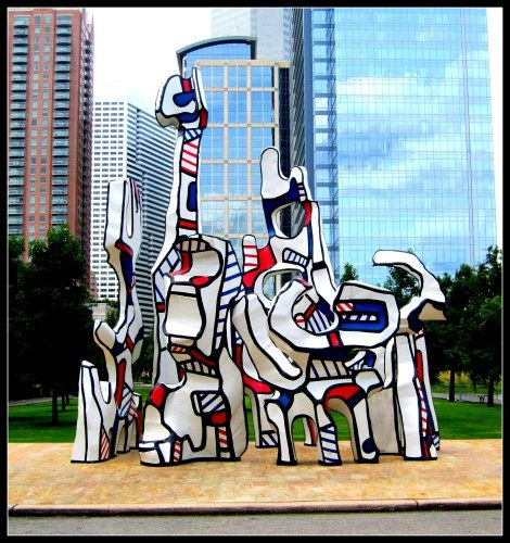 """""""Monument Au Fantome"""" Jean Dubuffet, 1977. Discovery Green Park."""