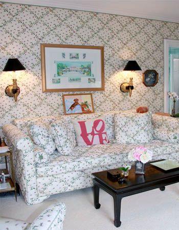 pink scalamandre floreale - | Sitting room design ...