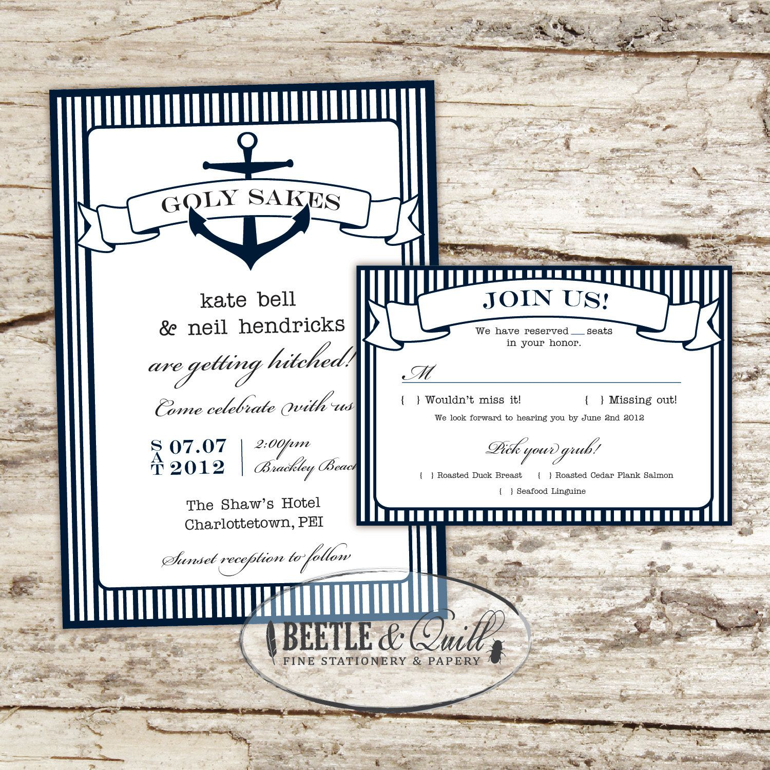 Printing Your Own Wedding Invitations: Print Your Own Invitations Anchors Away Printable Wedding
