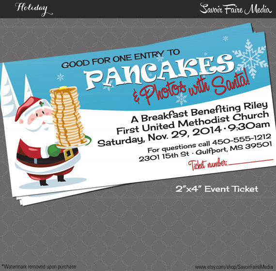 Pancake Breakfast with Santa Event Ticket / Holiday Photos with ...