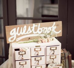 White Card Catalog Guestbook Guest Book Library Card Catalog Wedding Guest Book
