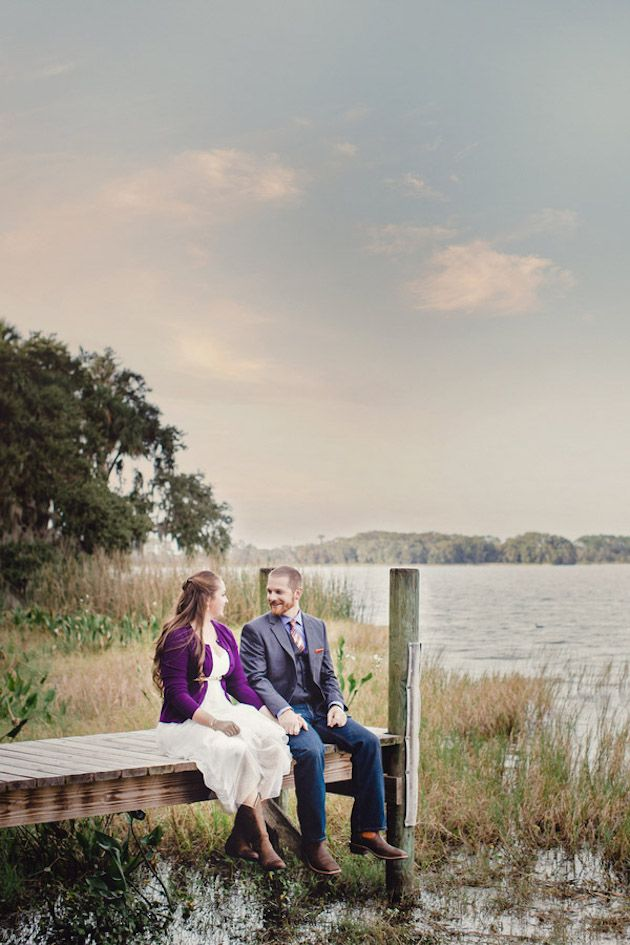 Kaley + Eddie's Intimate Handmade Florida Forest Wedding   Photo by Soltren Photography   See it on Woodsy Weddings - http://www.woodsyweddings.com/2015/01/12/sweet-intimate-florida-wedding-kaley-eddie/