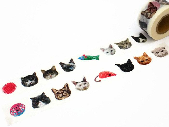 Halloween Black Cat Witch/'s Hat Washi Tape Papercraft Planner Supply DIY Craft