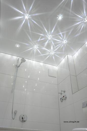 Traumhafter Sternenhimmel unter einer matten CILING Spanndecke - sternenhimmel für badezimmer
