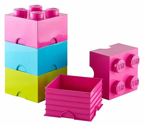 Beau Bright Giant LEGO Storage Blocks   Medium Bricks Bundle   Pink, Blue, Green